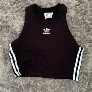 Adidas cropped tank top